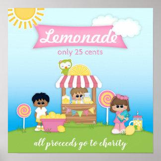 Poster do suporte de limonada para miúdos ou