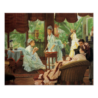 Poster do tea party do Victorian de James Tissot Pôster
