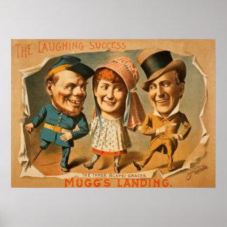 Poster do teatro da aterragem de Muggs do vintage