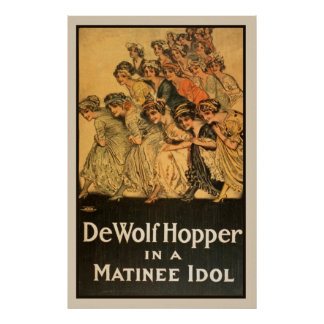 Poster do teatro da sessão vespertina do vintage