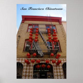 Poster do templo de San Francisco Chinatown