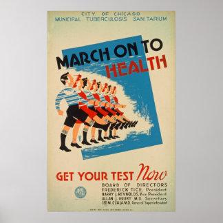 Poster do teste da saúde do vintage