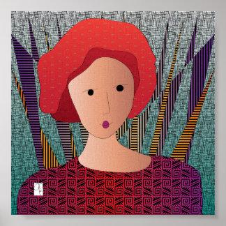 Poster do turbante dos chapéus das mulheres