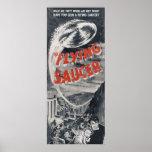 Poster do UFO do vintage - tem você visto uns pire