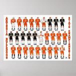 Poster do uniforme do futebol dos buldogues de