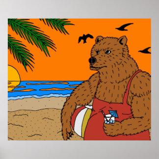 Poster do urso da praia