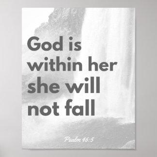 Poster do verso da bíblia, arte cristã da parede,