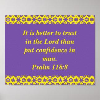 Poster do verso da bíblia do salmo pôster