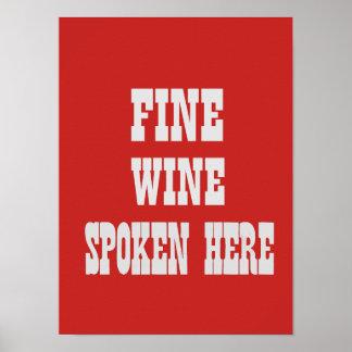 Poster do vinho fino