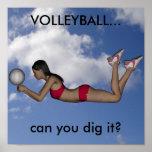 Poster do voleibol das mulheres