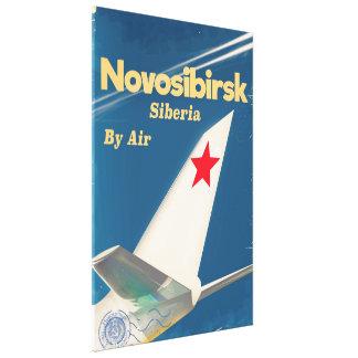 Poster do vôo de Novosibirsk Sibéria União Impressão Em Tela
