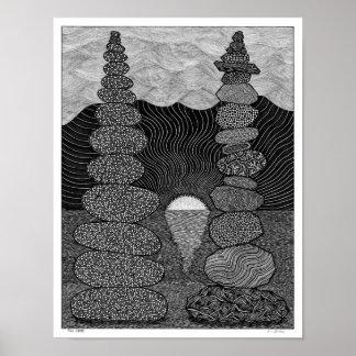 Poster Dois montes de pedras