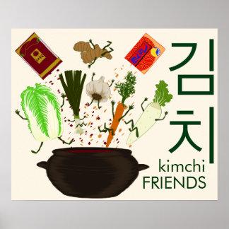 Poster dos amigos de Kimchi