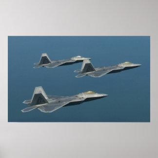 Poster dos aviões do raptor de F-22A