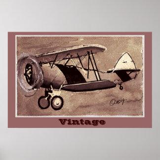 Poster dos aviões do vintage