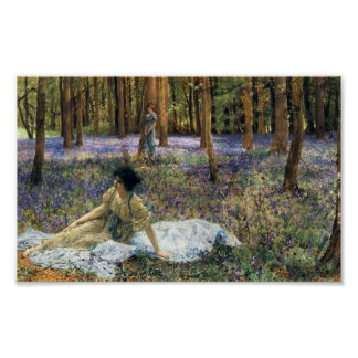 Poster dos Bluebells de Lawrence Alma Tadema Pôster