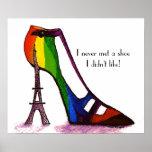 Poster dos calçados da torre Eiffel