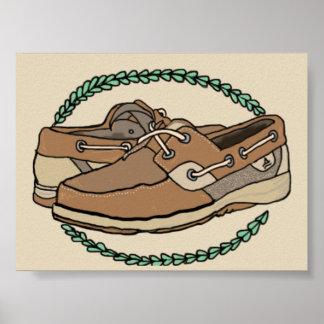 Poster dos calçados de Sperry