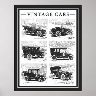 Poster dos carros vintage pôster