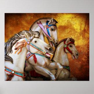 Poster dos cavalos do carrossel