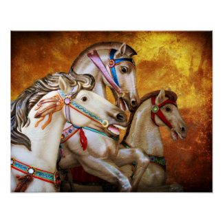 Poster dos cavalos do carrossel pôster