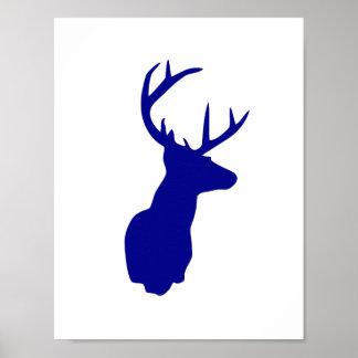Poster dos cervos do marinho - berçário azul pôster