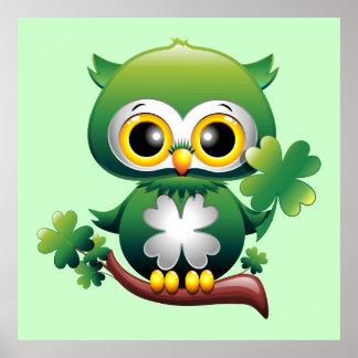 Poster dos desenhos animados de St Patrick da coru