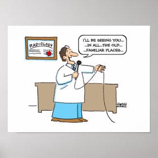 Poster dos desenhos animados do radiologista