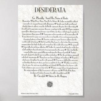 Poster dos DESIDERATA por Ehrmann máximo MUITOS TA