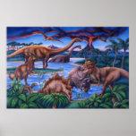 Poster dos dinossauros