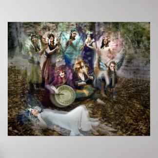 Poster dos músicos do país das fadas por Cheryl