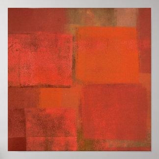 "Pôster Dos ""pintura alaranjada da arte abstracta"