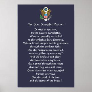 Poster dos poemas líricos da bandeira star