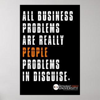 Poster dos problemas de negócio do RCU