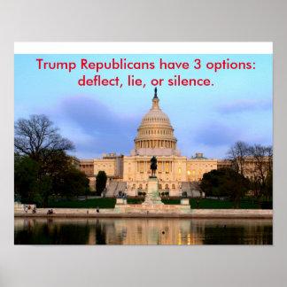 Poster dos republicanos do trunfo