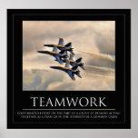 Poster dos trabalhos em equipe dos anjos azuis