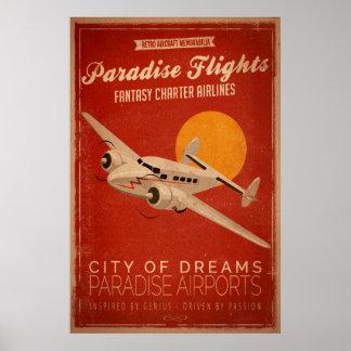 Poster dos vôos do paraíso