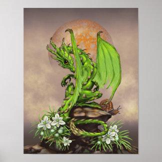 Poster Dragão 11x14 do aspargo (4x6 e levantam)