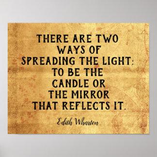 Pôster Duas maneiras de espalhar a luz -- Citações