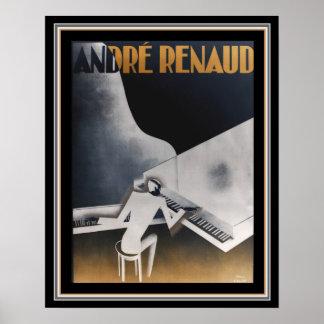 Poster duplo 16 x 20 de Deco dos pianos de Andre