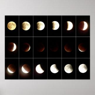 Poster Eclipse lunar total