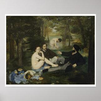 Poster Edouard Manet - almoço na grama