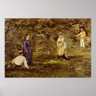 Pôster Edouard Manet - jogo do croquet