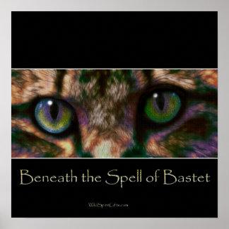 Poster EGÍPCIO da arte do deus do gato de BASTET