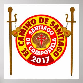 Pôster EL Camino de Santiago 2017