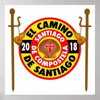 Pôster EL Camino de Santiago 2018