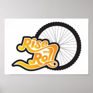 Pôster elevação e ciclo do rolo