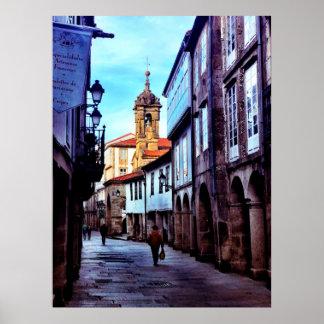 Poster Encanto do Velho Mundo de Santiago de Compostela