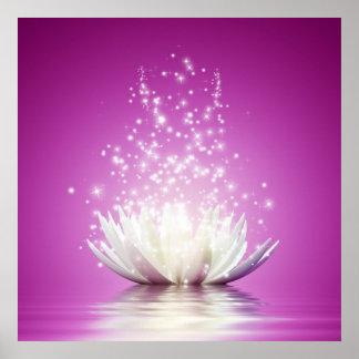 Pôster Energia cura do zen da ioga do curandeiro do amor