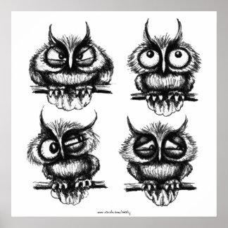 Poster engraçado da arte do desenho da tinta da ca